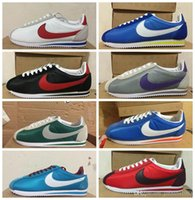 name brand shoes - NIKE CLASSIC CORTEZ NYLON Retro running shoes black white free run brand name sports shoes green red breathable light athletic trainer shoes