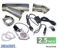 Wholesale TANSKY quot Electric Exhaust Cutout Y Pipe E Cut out W Switch Bypass Valve System Remote TK CUT2Y25