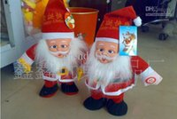 Wholesale Funny plush toys Santa Claus singing walk electric toys gifts Christmas toy