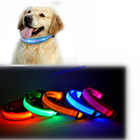 glow in dark products - LED Nylon Pet Supplies Products Dog Collar Night Safety LED Light up Flashing Glow In The Dark Electric LED Pets Cat Dog Collar