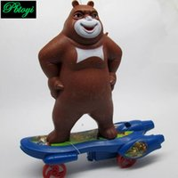 animated toy cars - Mini scooter bear skateboards funny animated toy car miniature toy best gift set
