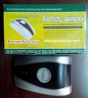 Wholesale New Type Power Electricity Saving Box Energy Saver us Plug V V Save Electricity Bill AU US UK EU Power plug available