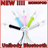 Wholesale Unibody Monopod Bluetooth Selfie Stick Shutter cm Portable for iPhone Samsung ect NOT NEED Remote Controller