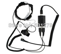 air sampling tubes - Sample Black PTT Military Police Equipment Throat Mic Air Tube Headset for Kenwood TH F7 Walkie talkie two way radio C0038A