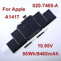 Wholesale Genuine Original OEM A1417 Laptop Battery For Apple MacBook Pro quot Retina A1398 MC975 MC976 Mid Early