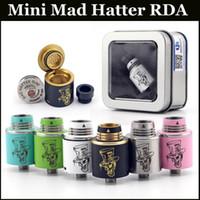 hatter - Mini Mad Hatter RDA Atomizer DIY Vaporizer atomizer rebuidable dripping atomizer mm Diameter with thread E Cigarette Atomizer