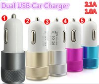 charger ipad mini - Universal Car Charger Metal Alumium Alloy Dual USB Port Car Charger a A For iPad mini iPhone s Plus Samsung Galaxy S5 S6 HTC LG