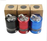 led light parts - metal grinder mixcolor aluminum grinder LED three light parts mm diameter cm tall