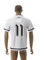 Tailandia Calidad 2015-2016 personalizada Madrid # 10 Bale hogar lejos Soccer Jerseys Fútbol Jersey de Futbol Camisetas