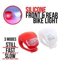 Wholesale LED SILICONE MOUNTAIN BIKE BICYCLE FRONT REAR LIGHTS SET LED SILICONE MOUNTAIN BIKE BICYCLE FRONT REAR LIGHTS SET PUSH CYCLE LIGHT CLIP