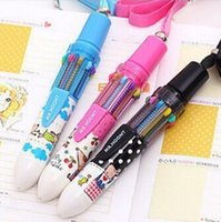 Wholesale Creative Fashion Cute Cartoon Ballpoint Pens Stationery Gifts For Children Kids Gift Stationery Supplies Ten color Automatic Pen cm jk3011