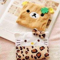Cheap Free Shipping Kawaii Rilakkuma & Leopard Hello Kitty Sanitary Napkin Bag Storage Bag Night Use Sanitary Napkin Bag Retail KCS