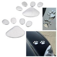 Wholesale Universal Auto Cute Car Sticker D Dog Bear Footprints Chrome Badge Car Styling Emblem Decal Car Accessories Cute Decal K1708