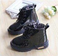 Wholesale Sell like hot cakes Martin boot boy girl Autumn boots British children leather shoes children s boots winter shoes for children