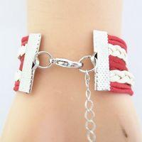 athletic wristbands - Infinity Love Alabama Crimson Tide Athletic Team Bracelet Crimson White Customize Sports Team Cheer wristband