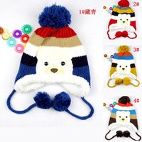 thermal protector - New christmas child hat plus velvet baby ear protector cap thickening Thermal baby cap