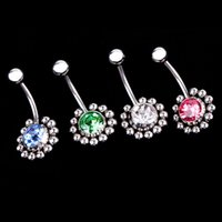 decoration jewelry colors - New Arrival Fashion Navel Nail Piercing Rhinestone Decoration Body Piercing Jewelry Colors Body