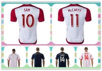 Nuevo producto New York Red Tailandia # 14 Henry 10 # 99 # sam Wright-Phillips 2015 White Home Soccer Jersey