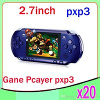 Wholesale DHL Bit Video Games Player PXP3 Slim Station Pocket Game Handheld Game Console Free Game Card Gift Box ZY PXP3