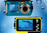 Wholesale hot Dual Screen W8D Waterproof Camera M XZoom Underwater Shockproof Digital Camera inch LCD DisplayCameras