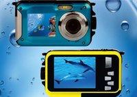 Precio de Camera underwater-W8D de doble pantalla de la cámara a prueba de agua caliente 10M DisplayCameras 2.7inch LCD de la cámara digital a prueba de golpes 16XZoom Submarino