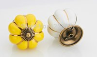 Wholesale 1pcs Home Bedroom Cabinet Drawer Kitchen Cupboard Pull Handles Pumpkin Knobs aW9