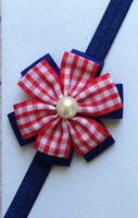 ribbons and bows - 100pcs Baby Multicolor Plaid Headbands Girl inch Stripe European and American Style Ribbon Bows Headbands Children s Hair Accessories