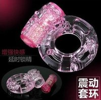Wholesale Top quality Sex Toys Adult Men Vibration Collars Delay Premature Ejaculation Lock Fine Butterfly Cock Penis Ring