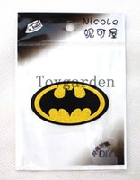Wholesale 30 New pvc Batman Cartoon Style pattern Patches Stickers iron on Clothes T Shirt