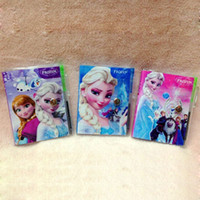 Wholesale Frozen Notebook with a Pen Student Diary x7CM Book Movie Frozen Princess Elsa Anna Olaf Notepad Promotion Gift