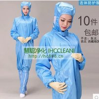 Wholesale Anti static dust free clothing electrostatic dustproof take aseptic wear clean clothes safety clothing