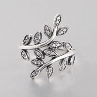 Wholesale Real Sterling Silver ring jewelry Wedding Party Ring with stone beads fit Pandora Jewelry for women RIP025