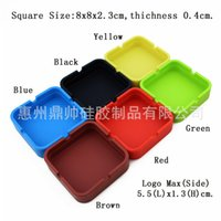 Wholesale Men Silicone eco Ashtrays circular square colour car Ashtrays cm chstmas gift fashion portable Ashtrays