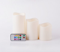 battery operated candles remote - Set of Remote Control LED Realistic Battery Operated Flicker Pillar Candles