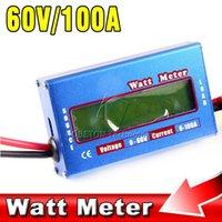 Wholesale Digital LCD DC V A Balance Voltage RC Aeromodelling Battery Power Analyzer Watt Meter Wattage Amper Servo Program Tester