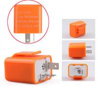 adjustable flasher relay - 2 Pin Adjustable LED Flasher Blinker Relay Motorcycle Turn Signal Indicator V Orange