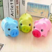money box - New Arrival Portable Cute Plastic Piggy Bank Saving Cash Coin Money Box Children Toy Kids Gifts Home Collection Colors
