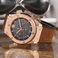 Wholesale New arrival men s sport watch luxury brand chronograph watches japan vk quartz stopwatch with leather strap