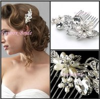 custom made jewelry - Hot Sale Wedding Bridal Beautiful Hair Comb With Crystal Pearl Jewelry For Wedding Bridal Tiaras Brides Hair Accessories Custom MADE