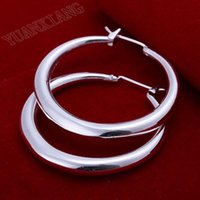 Wholesale fashion jewelry sterling silver earrings three dimensional circular
