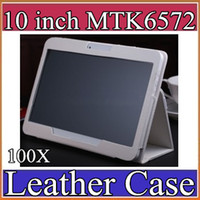 Wholesale 100X Leather case for quot inch Samsung N9106 MTK6572 MTK tablet phone G tablet PC general case PT