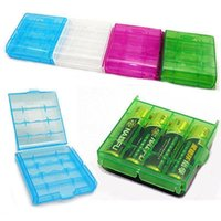 Wholesale Free EXPRESS shipping AA AAA Battery batteries cases aa aaa Hard Plastic Case Holder Storage Box Portable