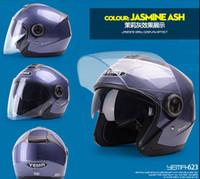 Wholesale Mustang motorcycle helmet summer helmet electric car helmet male Ms Seasons dual lens Harley half helmet
