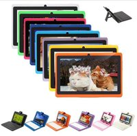 Wholesale ON SALE Inch A33 Quadcore Q88 HD Capacitive Screen GB Tablet PC Wifi Dual Cameras With quot Leather Keyboard case