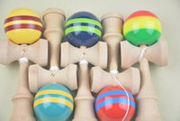 Wholesale MOQ PIECE hot Japanese Traditional Game Toy cmi cm big Kendama Ball Japanese Traditional Wood Game Toy