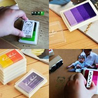 Wholesale New style Craft Ink pad Ink stamp pad Colorful Cartoon Ink pad Inkpad set for DIY funny work