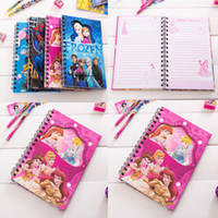 spiral notebook - new Office Frozen Spiderman cartoon School Supplies Paper Products Spiral Notebook Student diary Children book notebook notepad Mickey coil