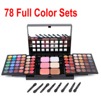 Wholesale 2016 Fashion Full Color Pro Makeup Set Kit EyeShadow Lip Gloss Blusher powder concealer Stretching Cosmetics Palette Set