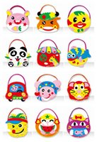 Wholesale Children Gift Education Kids Toy DIY Craft Kit Cute EVA Bag mixed designs sets
