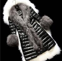 Wholesale Jacket Women Winter Coat Thicken Slim Female Raccoon Fur Collar And Long Coat Women Parka Winter Coat Plus Size S XL